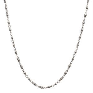 """Picture of Nickel-Free Silver Multifaceted Link Chain - 28"""""""